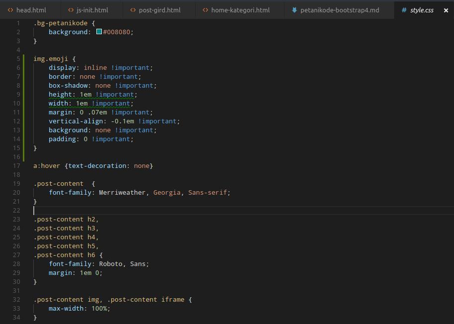 Kode CSS