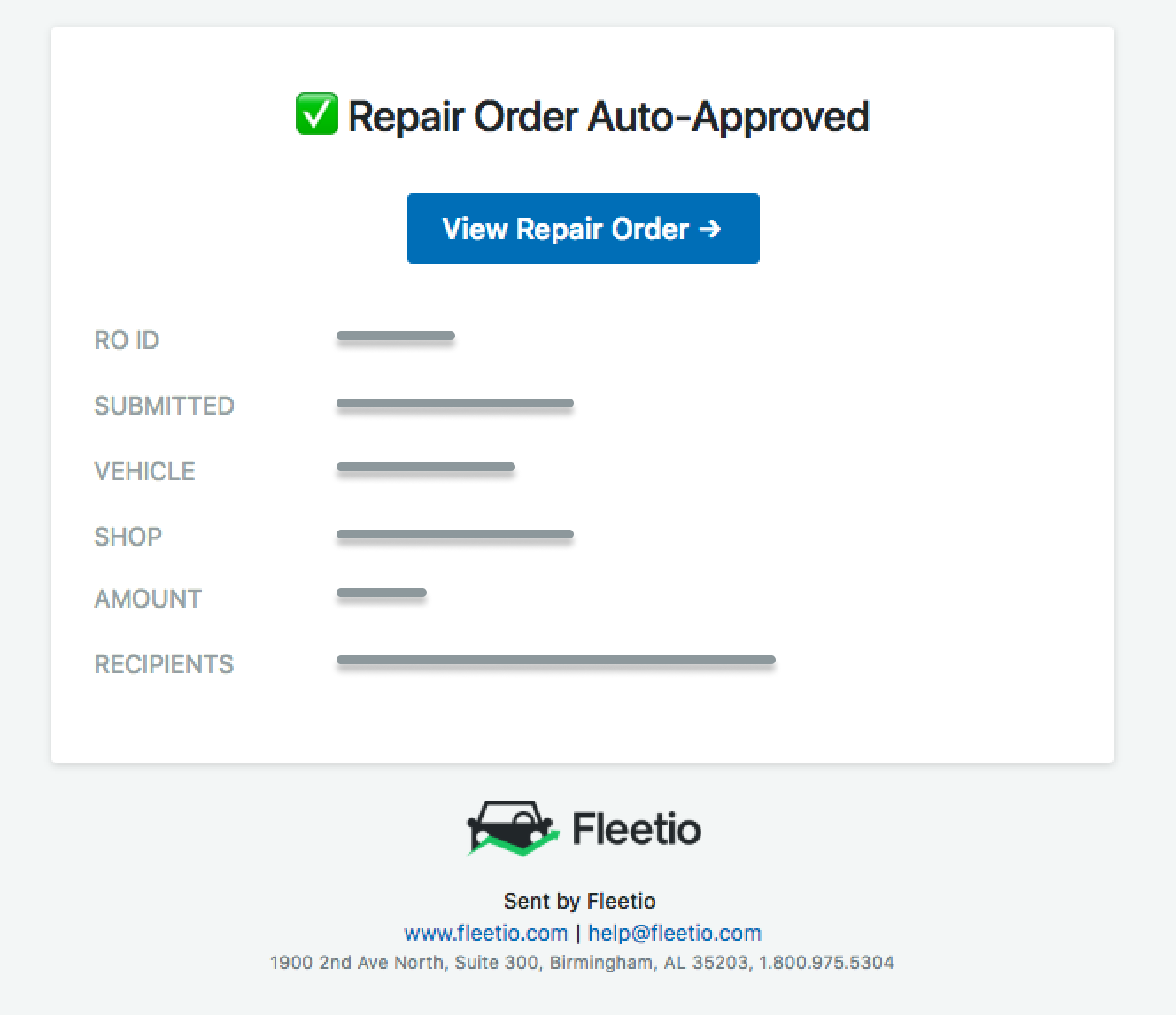 Ro auto approval