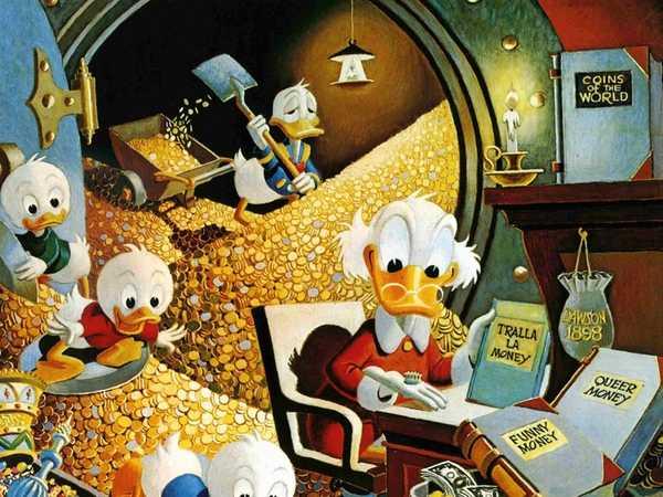 Pato Donald e Tio Patinhas por Carl Barks