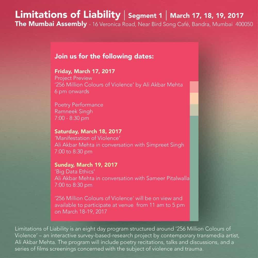 Limitations of Liability, segment 1, The Mumbai Assembly, 2017