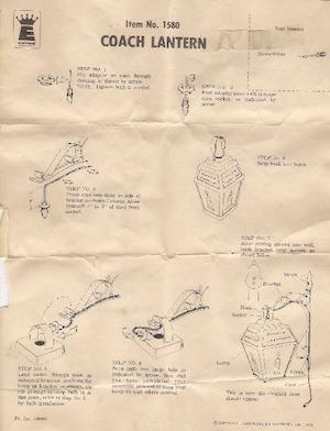 Empire Coach Lantern #1580 Instruction Manual.pdf preview
