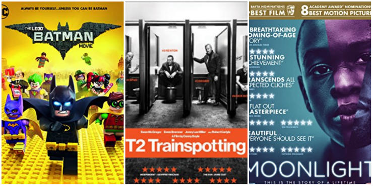 The Lego Batman Movie, T2 Trainspotting, Moonlight