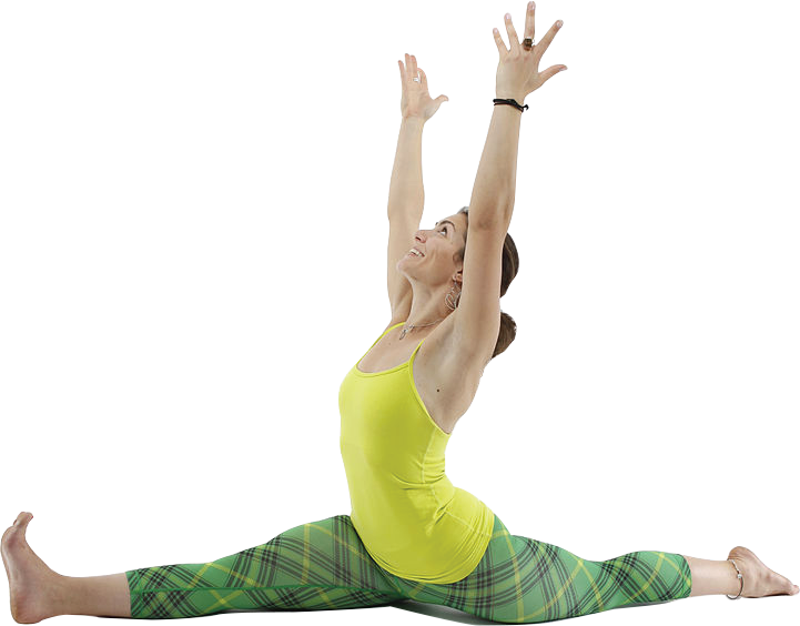 picture of woman doing yoga