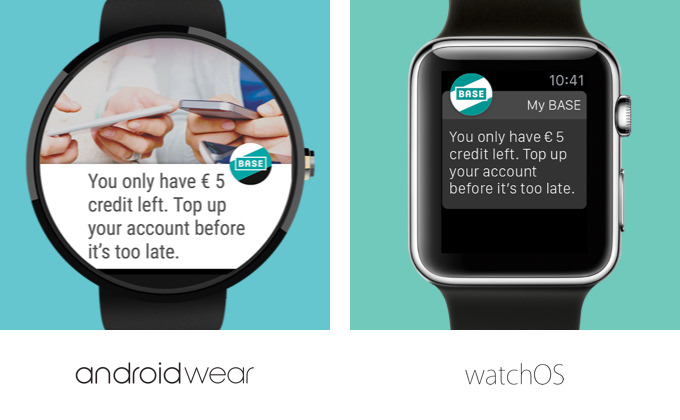 Notifications on WatchOS and Android Wear