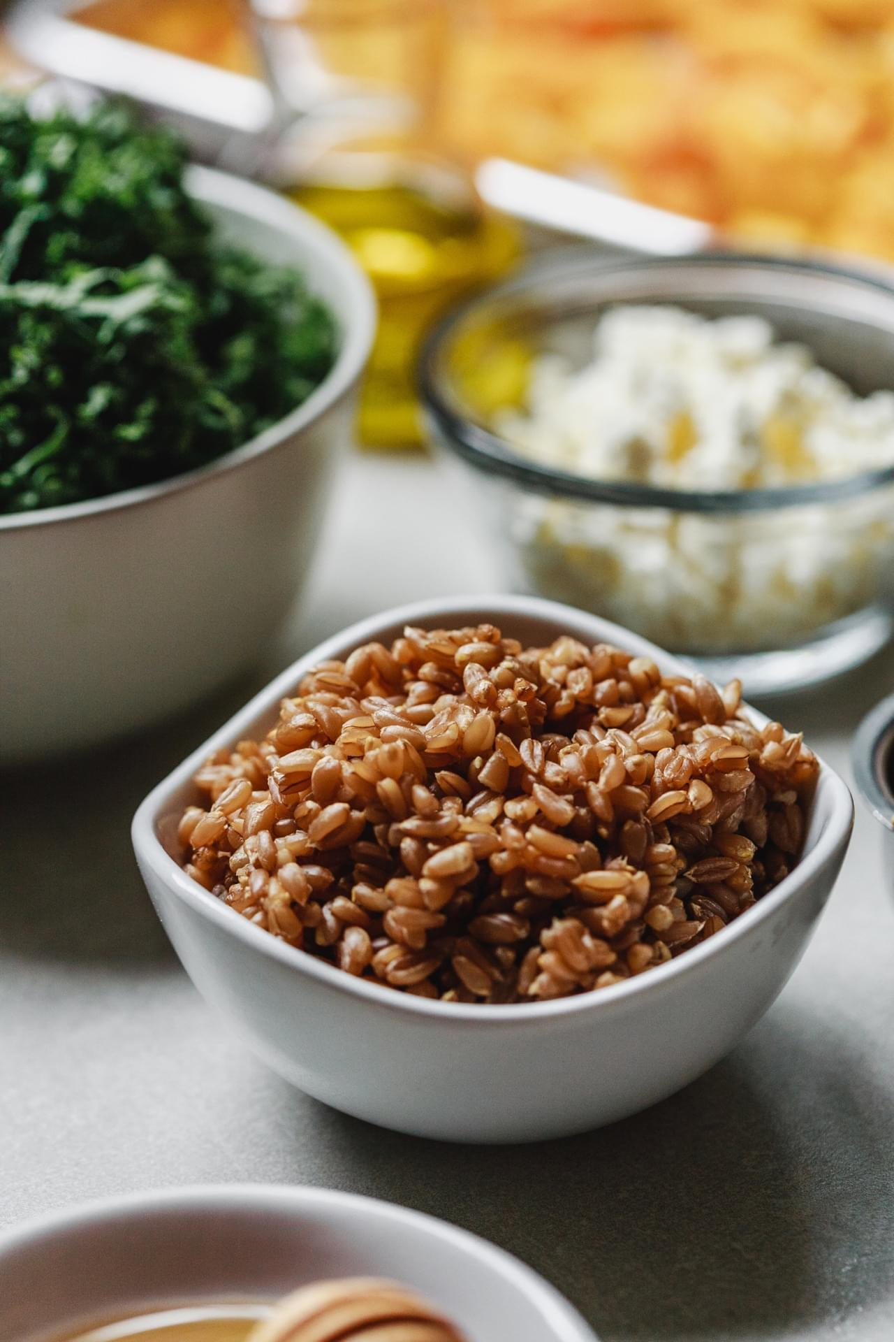 Roasted Butternut Squash Kale Farro Salad