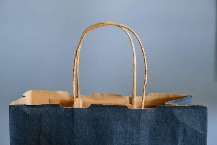 An Image of a bag representing shopify.
