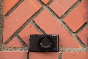 Sony RX 100 V lying on the floor