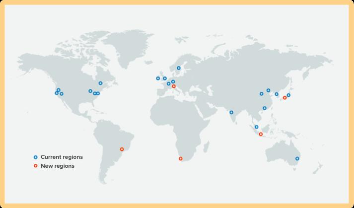 New AWS regions