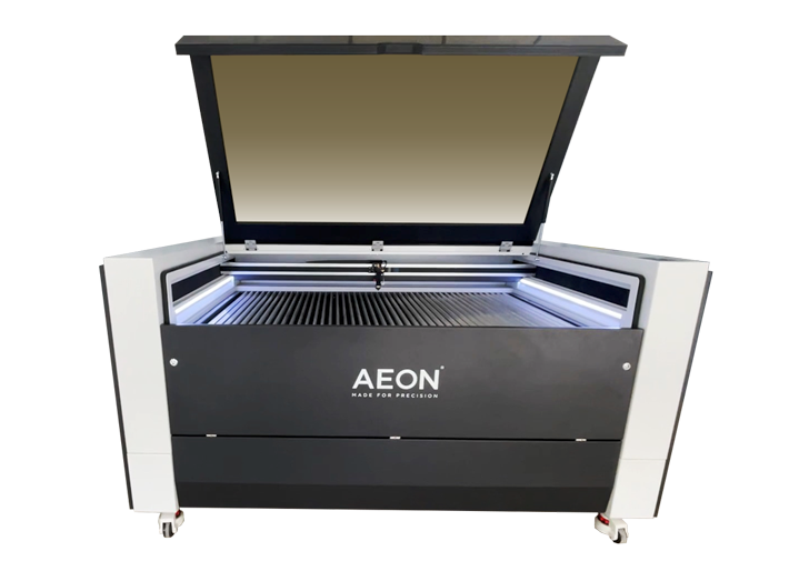 Aeon Nova Laser Cutter & Engraving Machine, front view with open lid