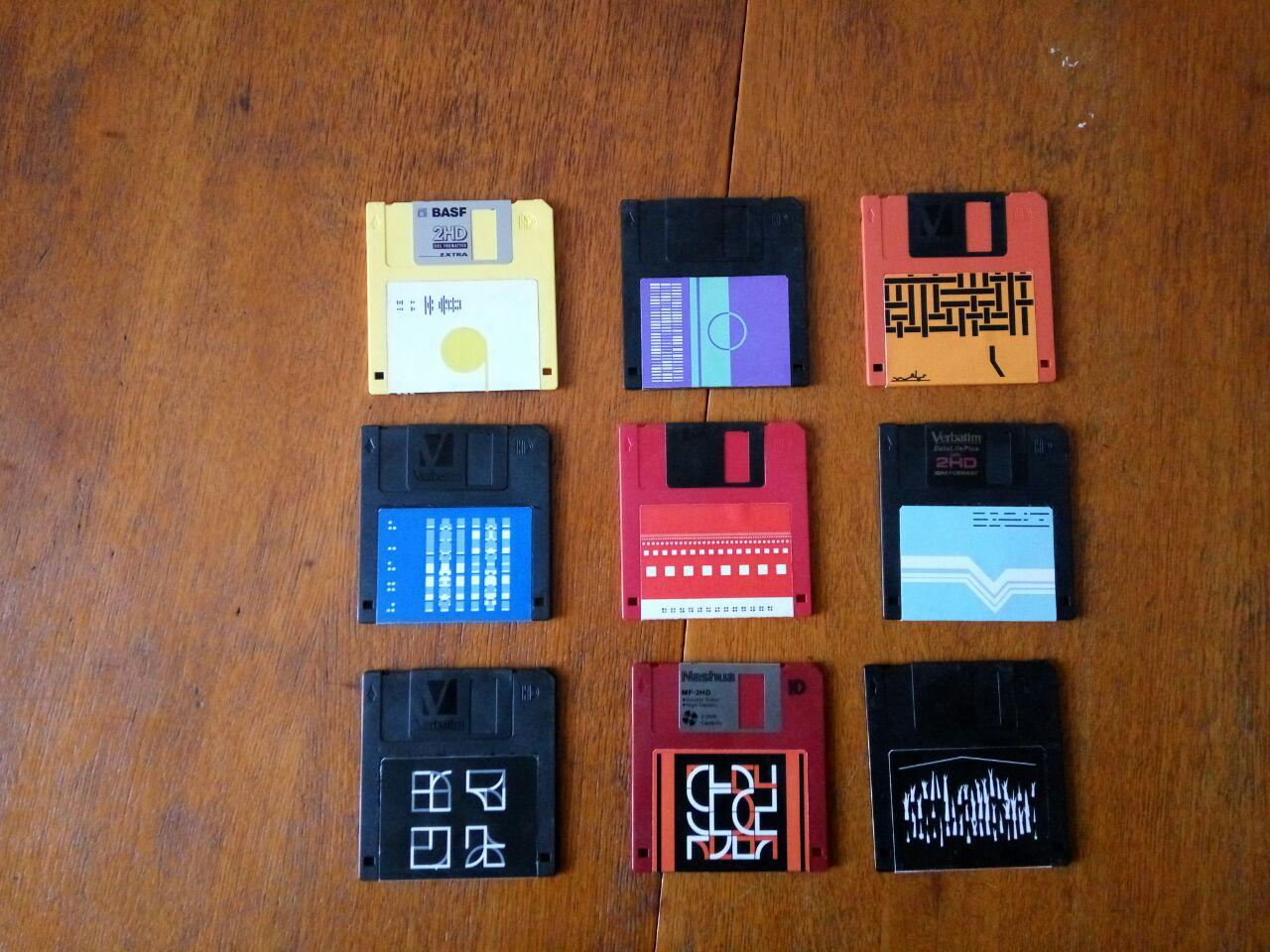 Floppy discs labels