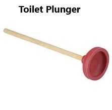 red toilet plunger for rvs
