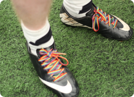Durham Police Football Team rainbow laces