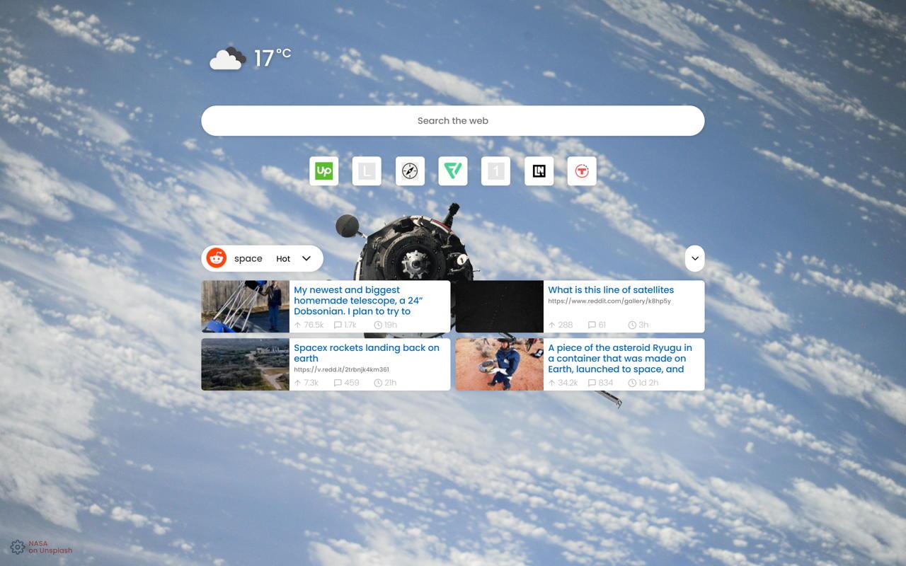 New Tab Screenshots