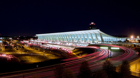 The main terminal building at Washington Dulles International Airport
