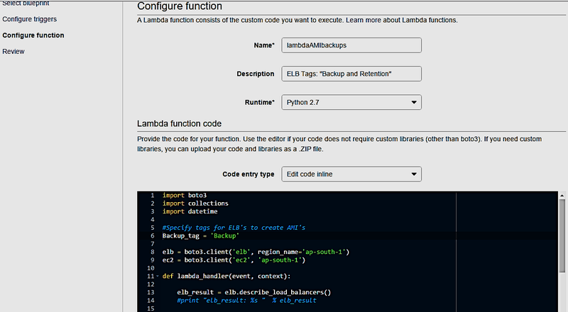 Configure Function