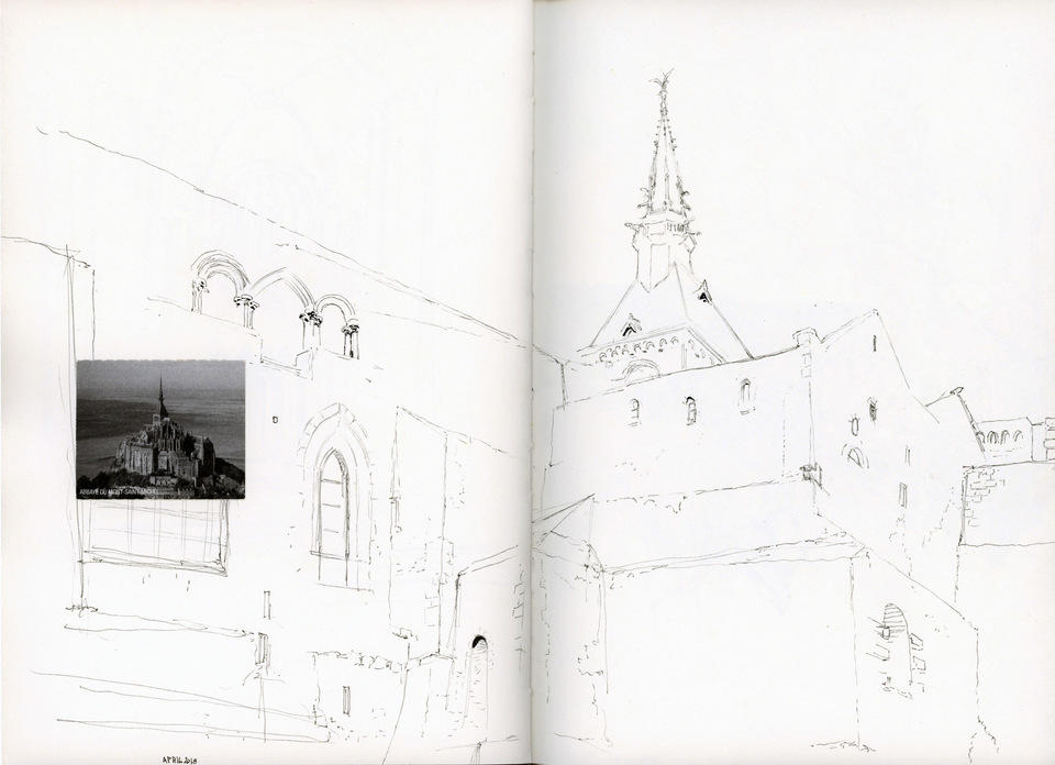 Mont saint Michel, from sketchbook