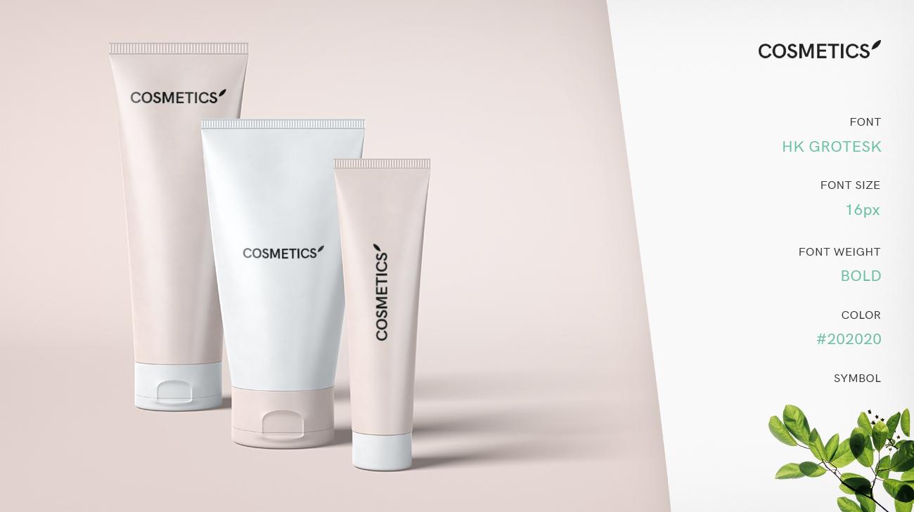Cosmetics Case Study Logo Presentation Mockup
