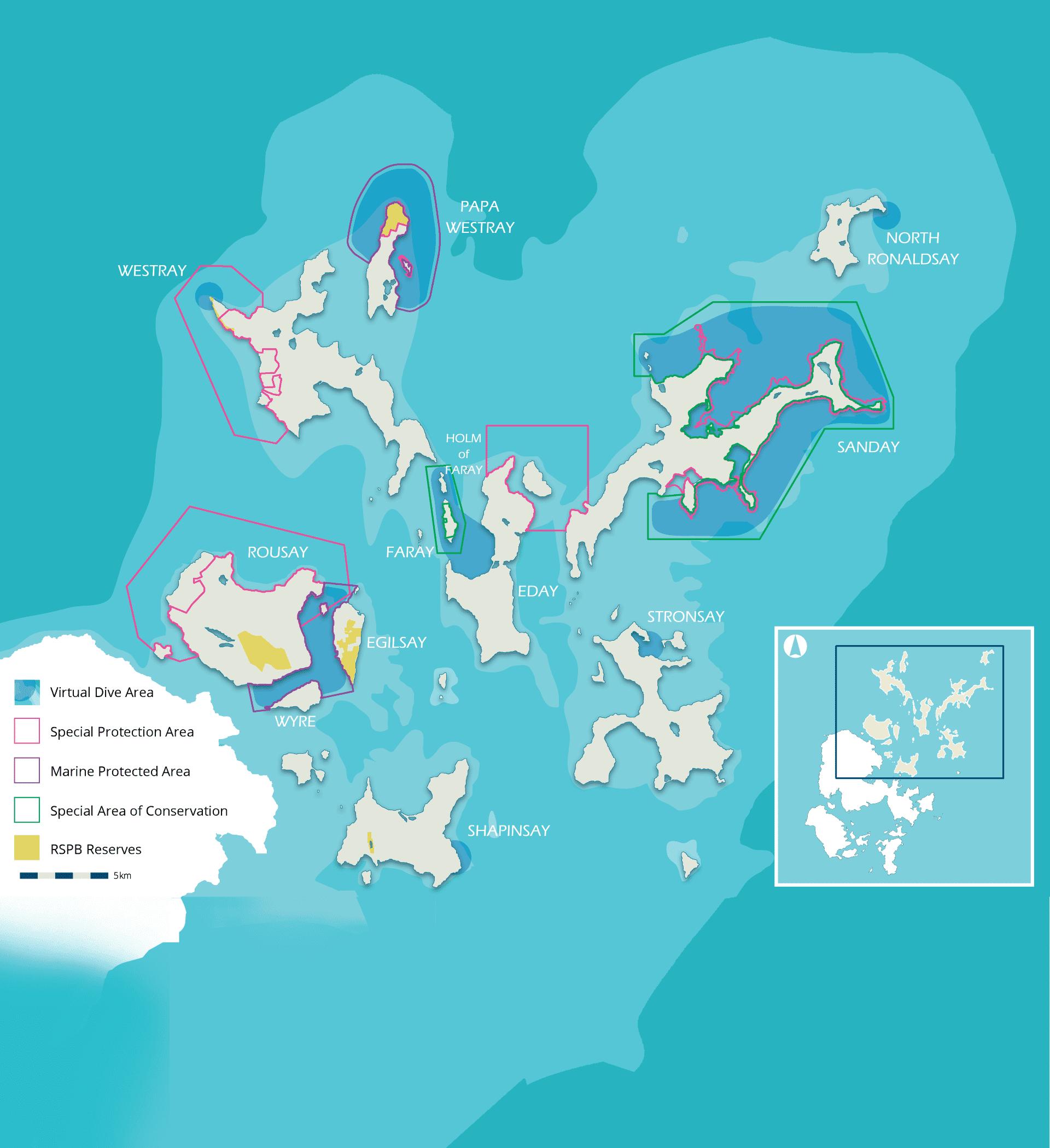 north isles map