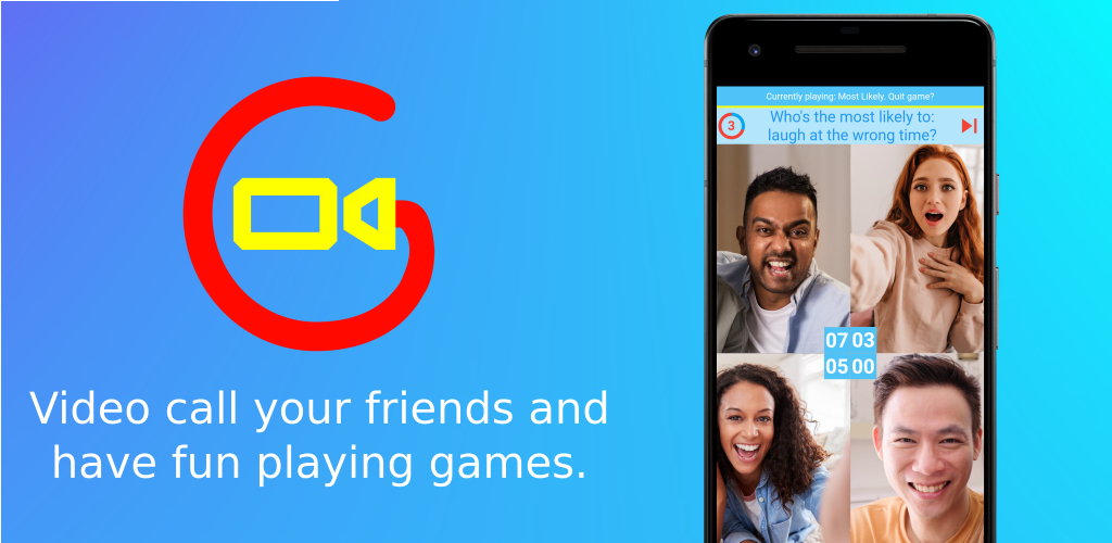 Game Night Group Video Call (iOS & Android)