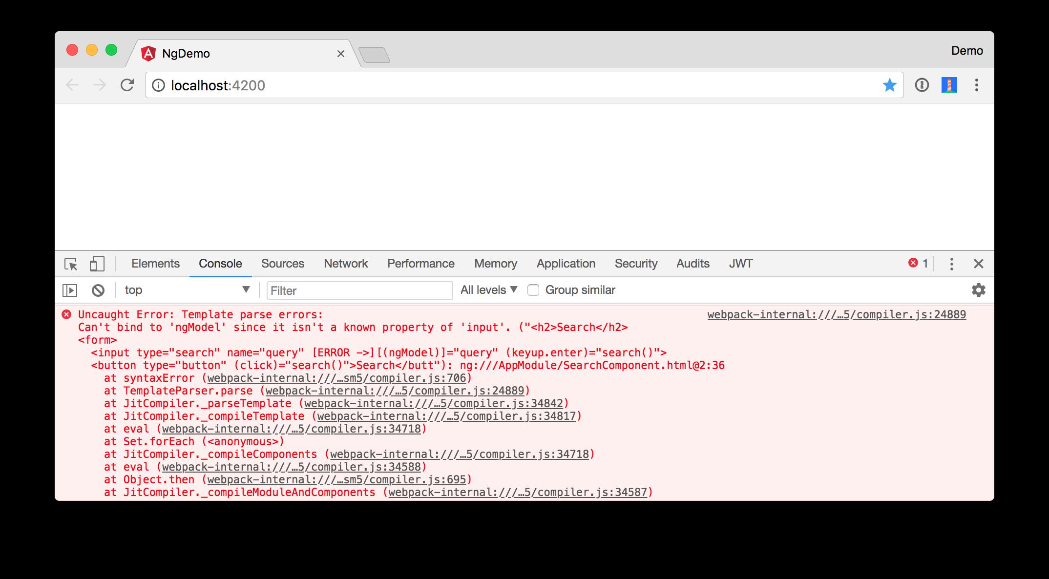 ngModel error