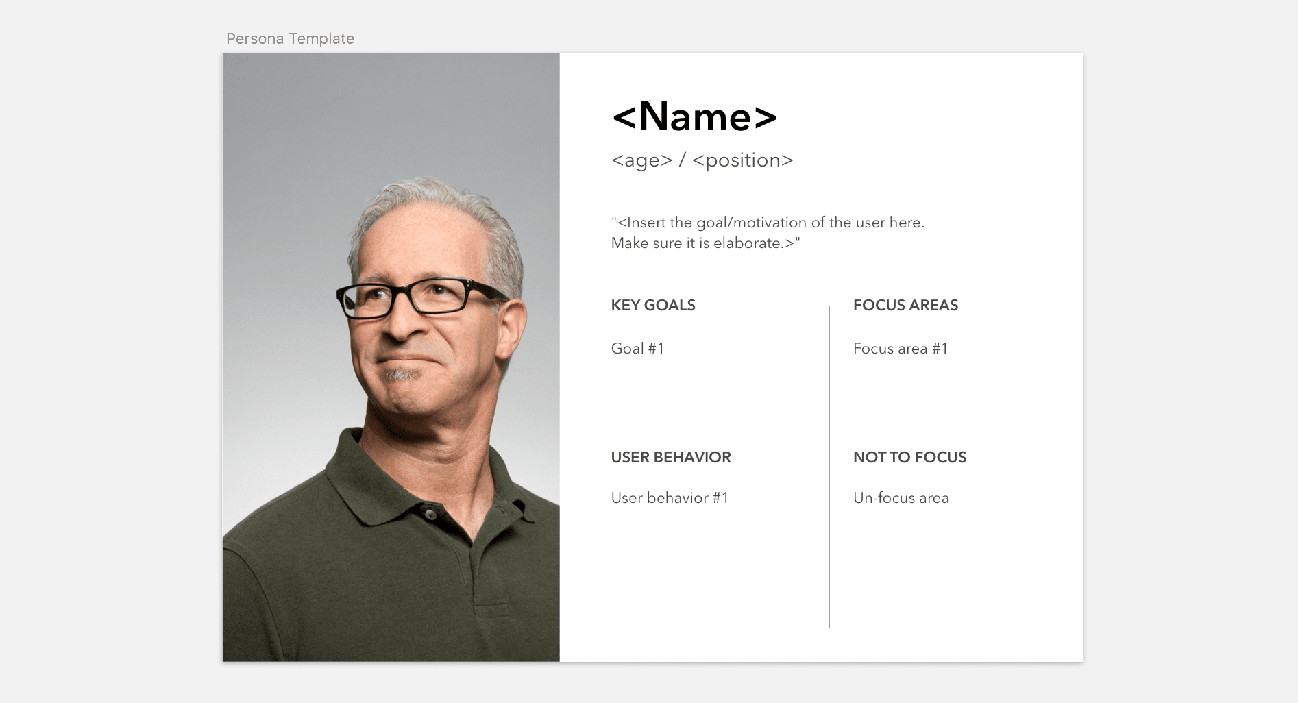 Download our Personas Template for your next design workshop