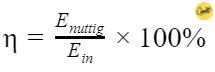 Rendement formule Energie