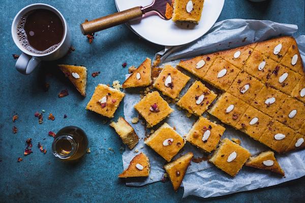 Greek Semolina Cake (Revani)