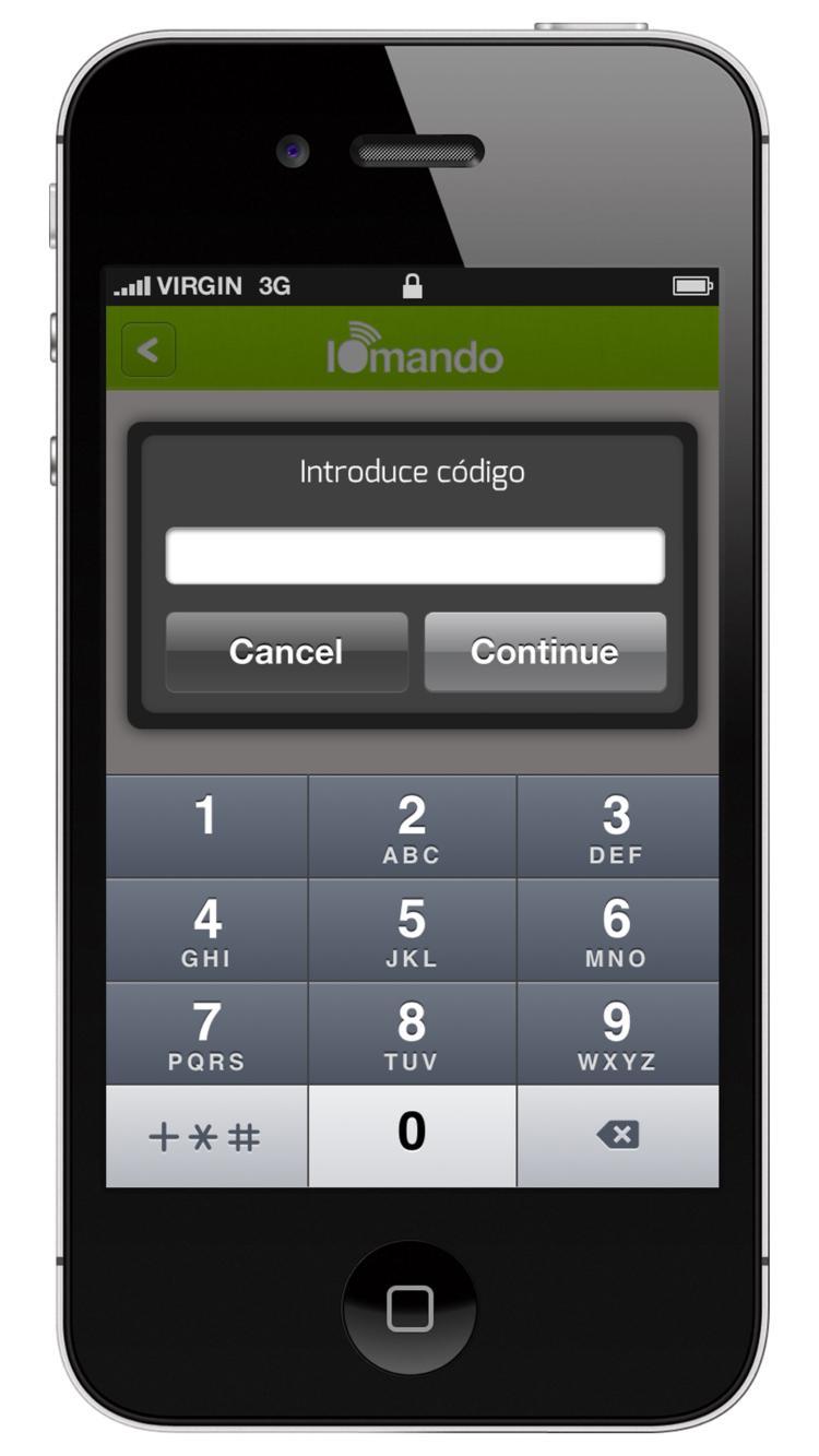iomando app 2.0 —four-digit passcode lock
