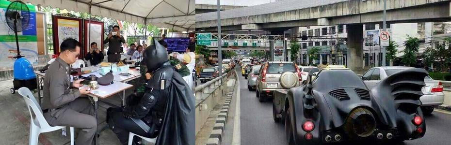 Batman auf dem Polizeirevier