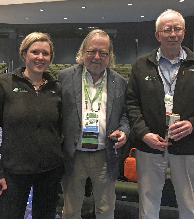 Jim Allison together with Ute Burkhardt and Ed Fritsch