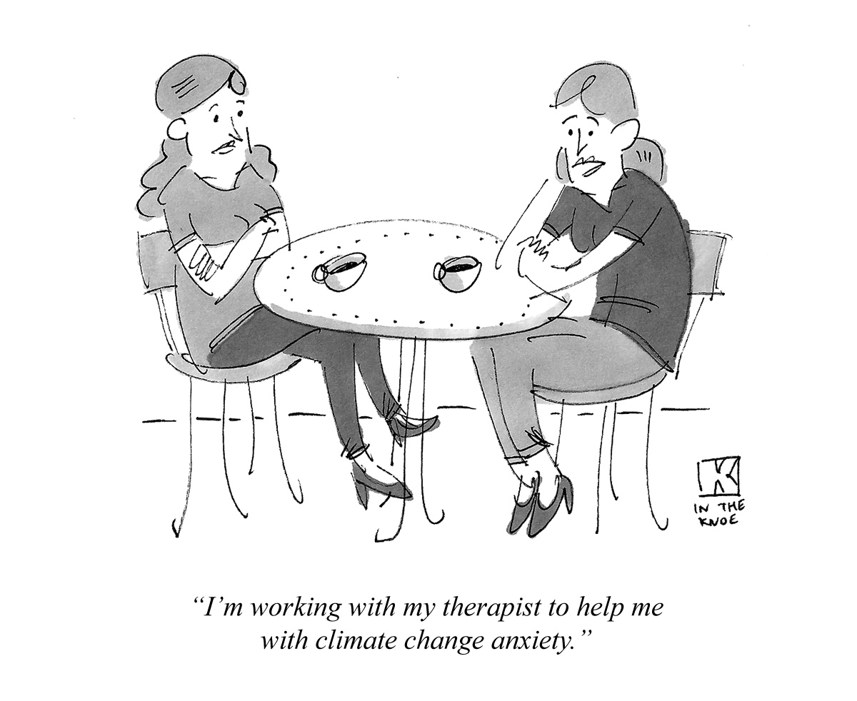 I'm working with my therapist to help me with climate change anxiety.