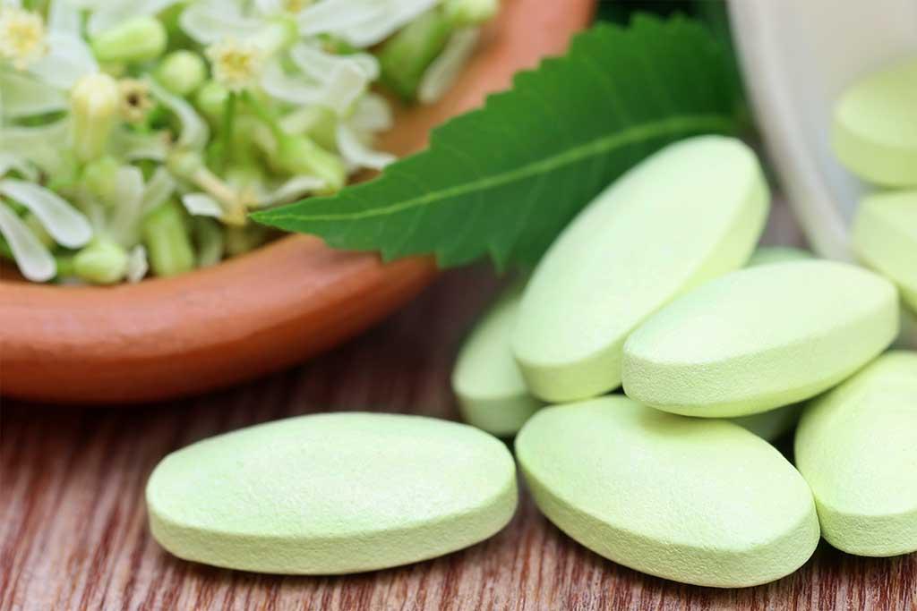 Medicinal pills made of neem
