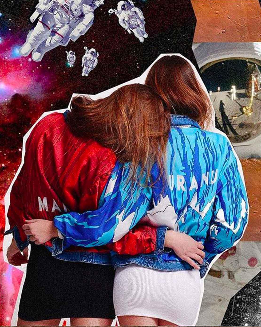GIVE ME SPACE -  denim jacket Uranus e Mars