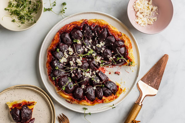 Caramelized Beet Tarte Tatin With Feta