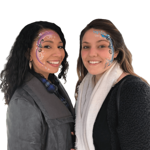 two women with face painting
