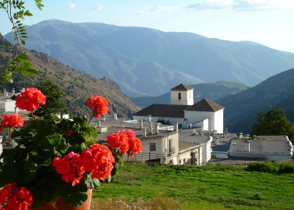 View from terrace over Bubión