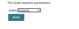 Jenkins build with parameters page