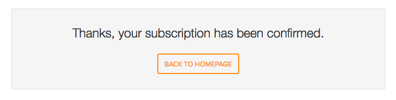 Subscription confirmation