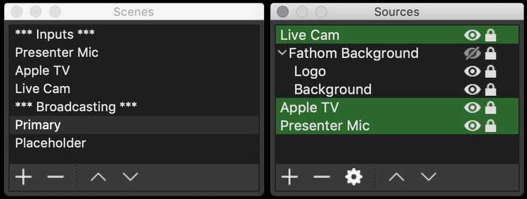 livestream config options
