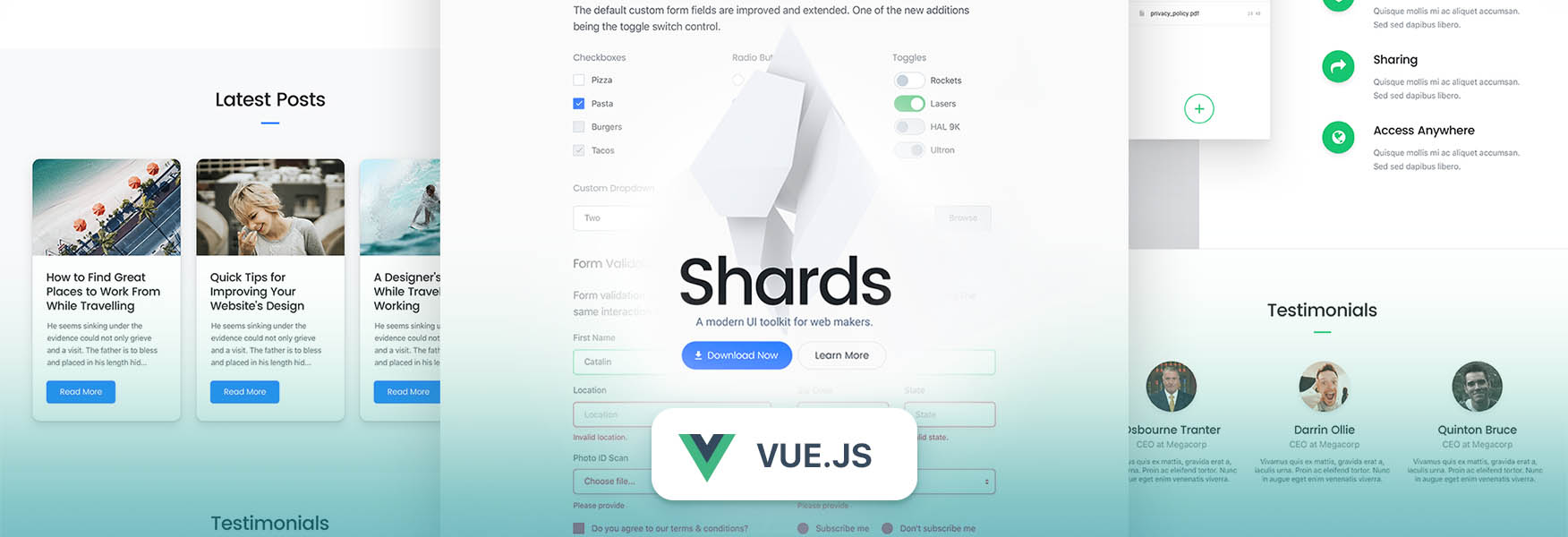Shards Vue preview