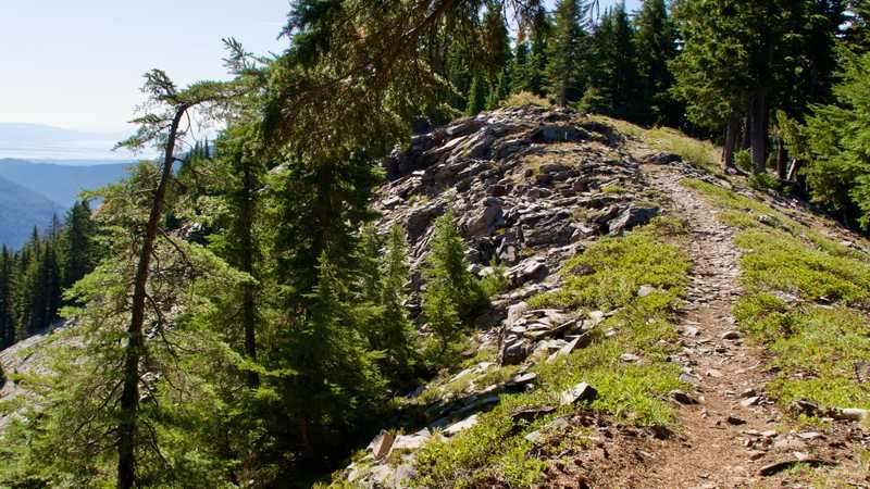 The PCT on a narrow ridge