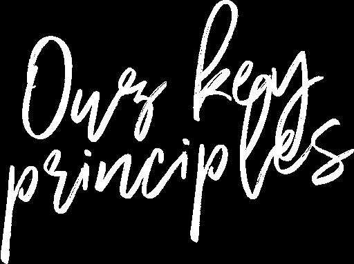 Our key principles