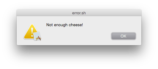 AppleScript error message