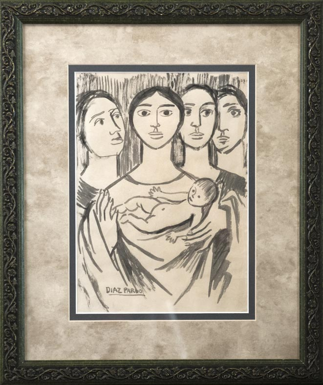 Isaac Díaz Pardo - tinta - 32,5x23,5 cm · dibujo tinta