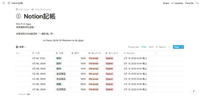 Featured image of post Notion記帳/iOS手機搭配捷徑App一鍵記帳,輕鬆將記帳資料整合至Notion