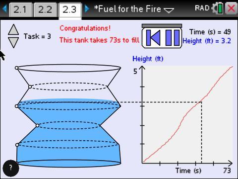 TI-Nspire NASA Fuel for Fire Tank Activity