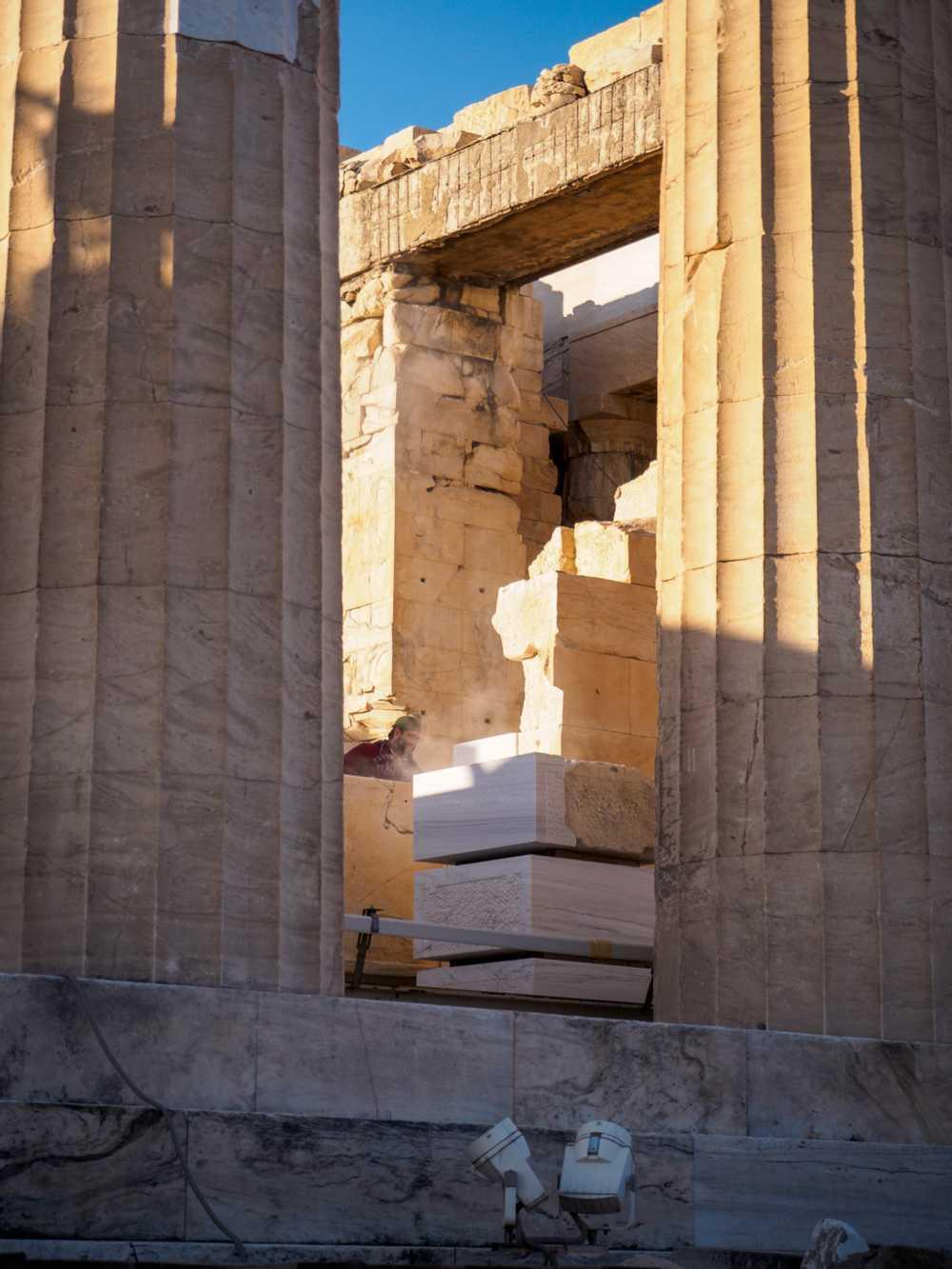 Restoration at the Acropolis, Athens