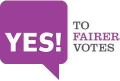 YES! To Fairer Votes logo