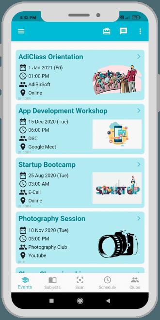 AdiClass App Events