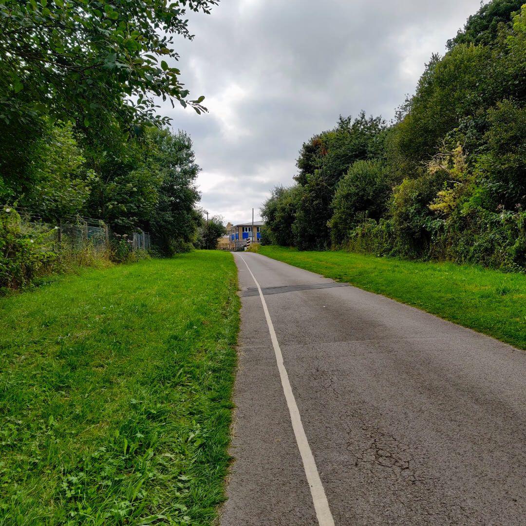 Rodley Nature Reserve entrance road